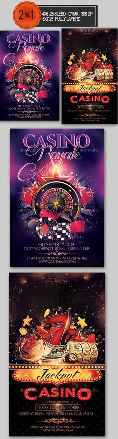 Casino Flyer Template PSD Bundle. Download here: http://graphicriver.net/item/casino-flyer-bundle/14784999?ref=ksioks