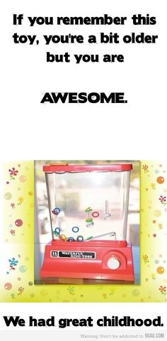 My sister had this model, I had the smaller yellow one. Hours of fun for any child or adult!!