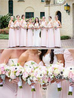 pink bridesmaid dresses @weddingchicks