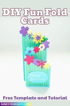 cricut cardmaking, free svg templates Fun Fold Cards, Pop Up Cards, Folded Cards, Diy Cards, Card Making Tutorials, Making Ideas, Cascading Card, Cricut Cards, Paper Cards