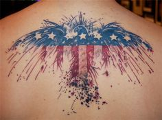 American Flag and Eagle Tattoo - 25 Awesome American Flag Tattoo Designs <3 !