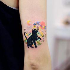 35 Best cat tattoo designs for men and women cat tattoo,tattoo design,tattoo ide. - 35 Best cat tattoo designs for men and women cat tattoo,tattoo design,tattoo ideas. Cute Little Tattoos, Pretty Tattoos, Beautiful Tattoos, Cool Tattoos, Tatoos, Sexy Tattoos, Black Cat Tattoos, Animal Tattoos, Creative Tattoos