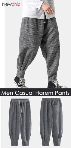 Men also need decent clothes,which are casual, comfortable and gentle. Casual Pants, Comfy Casual, Casual Outfits, Men Casual, Asian Men Long Hair, Classic Cars British, Cute Girl Outfits, Pants Outfit, Harem Pants