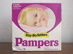 vintage pampers box | Details about Vintage PAMPERS Diapers Baby Toddler over 23 lbs 1980s ...