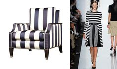 Nautical Stripes, Gold Highlights, 1920s Art Deco, 2014 Trends, Color Blocking, Floors, Furniture Design, Chicago, Runway
