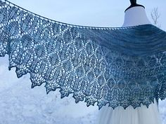 Mountain Bluebird by Kelly Gubbels on Ravelry - Small Crescent Shawl Pattern - 450 yrds