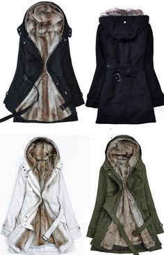 Faux fur warm coat winter coat white coat hoodie by Fashiondress1, $99.99