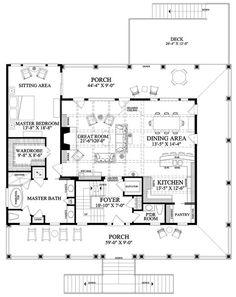 floor plan - Open Concept House Plans