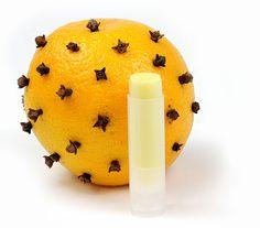 Orange & Clove Pomander Lip Balm recipe from Mountain Rose Herbs.