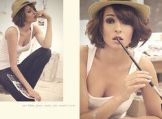 Fedora with short hair. Should you require Fashion Styling Advice  More. View  Contact: www.glam-licious.webs.com