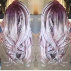 Gorgeous lilac pink hair color and beautiful style by @rachelcskipper #hotonbeauty