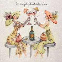 "Cards ""Congratulations"" - Berni Parker Designs ღ✟"