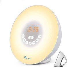 """☀️ Multi-Functional Wake Up Light Radio Alarm Clock -- Environmentally friendly ABS + PU rubber material, light and durable products. Slim and compacted design, high quality STN black crystal display. ☀️ Sunrise Alarm Clock for Bedrooms-- Updated Sound quality and Brightness. The Wake Up Light adds new Sunset and Snooze Function. Press the """"SNOOZE"""" button when the alarm sound is playing and you... Sunrise Alarm Clock, Light Alarm Clock, Radio Alarm Clock, Radio Channels, Alarm Sound, Nature Sounds, Digital Clocks, Bedside Lamp, Natural Cleaning Products"""