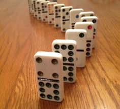 Middle-aged Mormon Man: Lining Up the Dominoes - First Vision  Great object lesson idea with dominoes