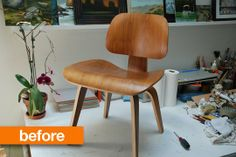 Before & After: This Chair Will Scare Your Socks Off   Apartment Therapy