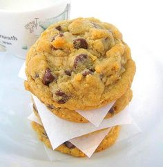 Peanut Butter Oatmeal Chocolate Chip Cookies:these are my new favorite cookies