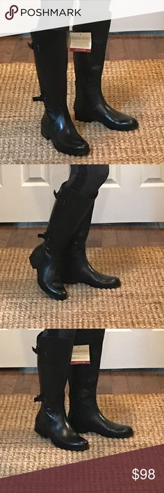 Black Jamison Riding Boots NIB, WS New in Box Jamison Riding boots.  No visible flaws.  Super comfy but polished and sleek for work or going out.  Features a roomier shaft to provide fuller calves with a perfect fit or extra room to wear over jeans and leggings.  Leather upper.  Balance man made. Naturalizer Shoes Winter & Rain Boots
