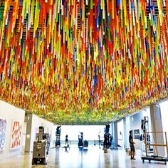 Art Month Sydney Or How To Engage With Contemporary Art - Bettina Deda Colour Design. Image: Nike Savvas Installation at the AGNSW