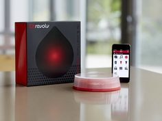 The Revolv Smart Home Automation Solution is a central hub that connects many smart home devices such as Philips Hue lights, Yale locks, Sonos Hi-Fi speakers, and Insteon sensors and switches together. Actions that you can set up include turning off heating, lighting and appliances automatically when you are a certain distance away from your home and turning them back on when you are on your way back. This saves electricity while ensuring your comfort.