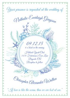 Under The Sea Wedding Invitations Save Dates Cards Rsvps Pinterest Weddings And Nautical