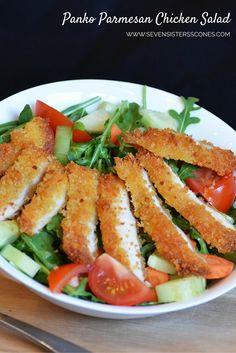 Panko Parmesan Chicken Salad - yum!