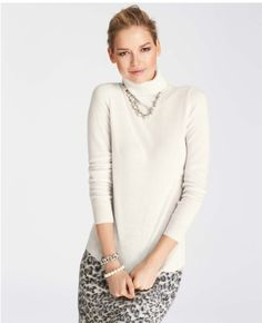 Cream top w snow leopard skirt