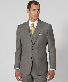 Brooks Brothers Regent Fit Threepiece Plaid Suit in Gray for Men (tan-blue) - Lyst