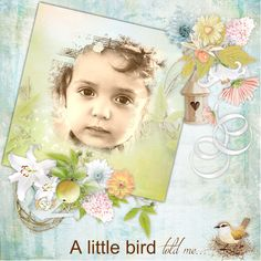 "Page réalisée avec le kit « A bird in my garden » de Graphia Bella disponible ici : http://digital-crea.fr/shop/index.php?main_page=product_info&cPath=155_453&products_id=27227 Photo ""Pixabay"""
