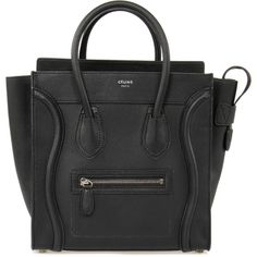 e09fdf9cf124 Celine Micro Luggage Tote Bag (€1.605) ❤ liked on Polyvore featuring bags