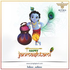 Live your life with love, compassion, dignity and devotion, as Lord Krishna did. This Janmashtami, may Lord Krishna flute to invite the melody of your happy life. Happy Janmashtami.  #HappyJanmashtami #RPMGDigitech