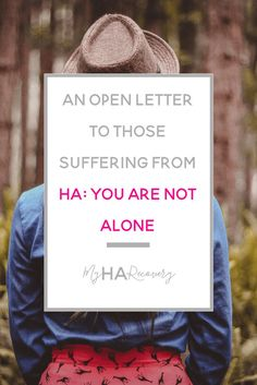 Hypothalamic Amenorrhea: An open letter to those suffering from HA: You are not alone...
