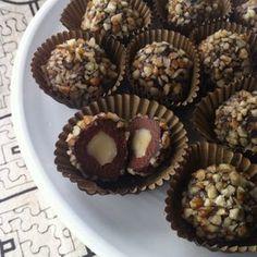 raw food version av ferrero rocher choklad
