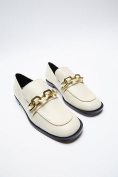 Heeled Loafers, Loafers Men, Loafer Flats, Zara United States, Low Heels, Oxford Shoes, Dress Shoes, Beige, Loafers