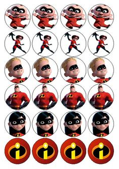 The Incredibles pics for magnets, cupcake toppers, etc. 6th Birthday Parties, 7th Birthday, Birthday Party Decorations, Birthday Ideas, Incredibles Birthday Party, Superhero Party, Party Printables, Holidays And Events, Party Time