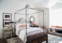 Uniquely blended elements create a welcoming sanctuary........juxtaposed antique/mod mix...<3 it. Tara Shaw