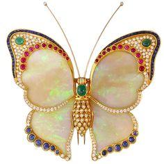 Breathtaking Opal Butterfly Pendant - Represented by Waldmann Van Lennep
