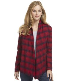 Flannel Open Cardigan x-small