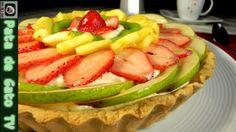 Pay de Fruta, relleno de Crema Diplomata / Fruit Pie, filled with Custar...