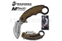 U.S. Marines by MTech USA USA M-A1019TNCS SPRING ASSISTED KNIFE
