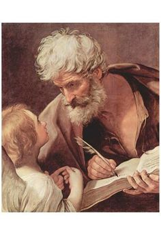 Guido Reni (Evangelist St. Matthew and the Angel) Art Poster Print Affiche