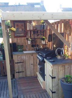 Simple Outdoor Kitchen, Outdoor Kitchen Design, Rustic Kitchen, Kitchen Decor, Rustic Outdoor Kitchens, Kitchen Modern, Out Door Kitchen Ideas, Outdoor Kitchen Bars, Bathroom Modern