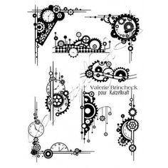Tampons décoratifs - Steampunk Element - A5 -Langfr