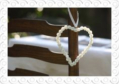 Ivory Button Hanging Heart