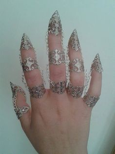 Hand Jewelry, Jewlery, Capitol Couture, Armor Ring, Dragon Claw, Steampunk, Diamond, Bracelets, Rings