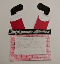 ask children what they would do if Santa got caught .... then record words on this craft