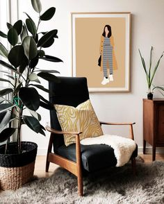 Modern chairs, mid century modern living room, living room modern, living r Mid Century Modern Living Room, Living Room Modern, Home And Living, Living Room Designs, Living Room Decor, Dining Room, Retro Home Decor, Cheap Home Decor, Decor Scandinavian
