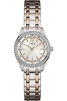 GUESS W0830L1,Ladies Dress,Stainless Steel,Two-Tone,Cryst...