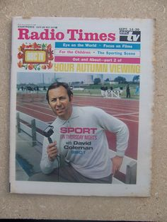 David Coleman is clearly the inspiration for Alan Partridge on this Radio Times cover Alan Partridge, Ken Russell, Bbc Tv, Tv Times, Vintage Tv, Bbc Radio, Dr Who, Tvs, Britain