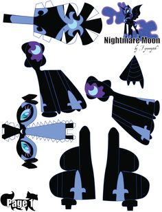 Nightmare Moon Printout 1 by FyreWytch.deviantart.com on @deviantART