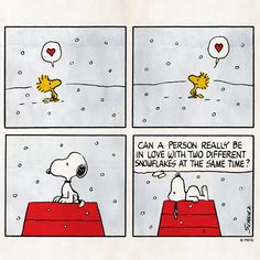 Woodstock and Snoopy. Love ❤️ affairs with snowflakes. Teen Titans Raven, Snoopy Comics, Happy Comics, Life Comics, Peanuts Cartoon, Peanuts Snoopy, Peanuts Comics, Charlie Brown Und Snoopy, Snoopy Und Woodstock
